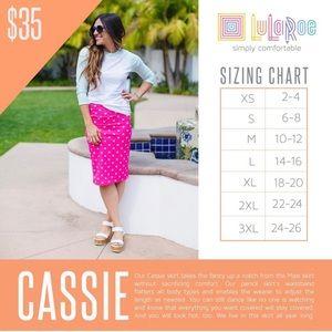 LuLaRoe Skirts - NWT Womens Lularoe Feather Plus Cassie Skirt - 2x